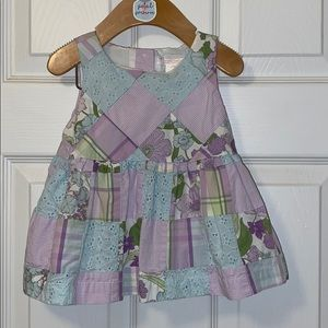 Janie and Jack Patchwork Madras Dress Size 3